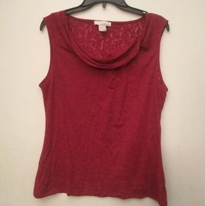 Lucy & Laurel sleeveless sheer red top - XL